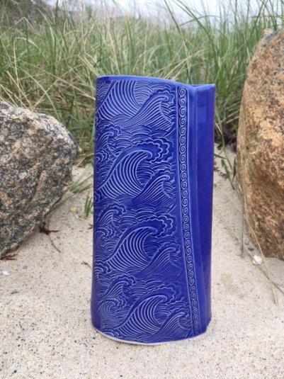 Blue Wave Vase
