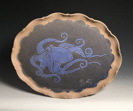 Octopus Oval Tray