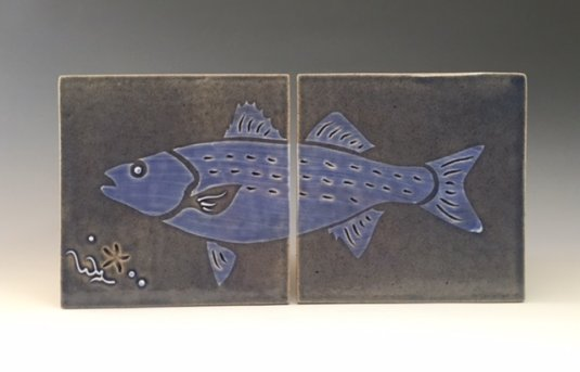 Striped Bass Tile