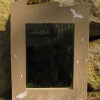 Heron Wave Mirror