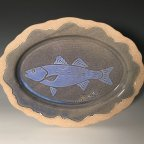Striped Bass Oval Platter