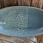 Wave oval dish